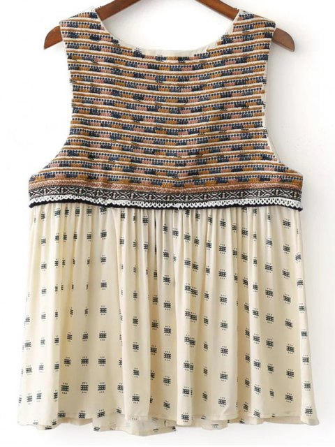 new Delicate Embroidery Short Waistcoat - OFF-WHITE L Mobile