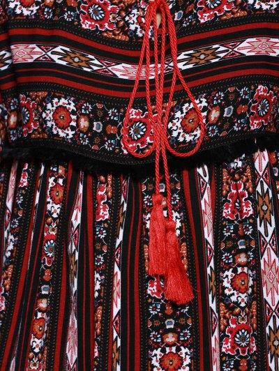 Vintage Print Empire Waist Dress от Zaful.com INT