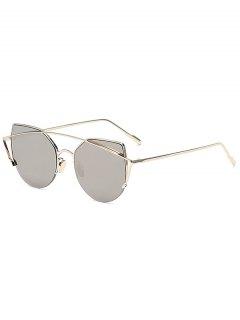 نظارات شمسية عاكسة من الذهب - فضة