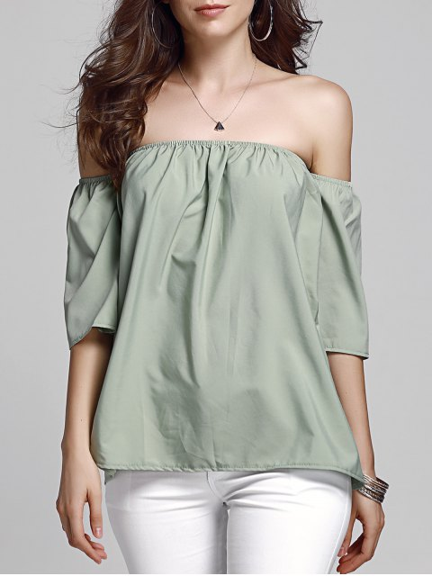 outfit Off Shoulder Army Green Top - ARMY GREEN M Mobile
