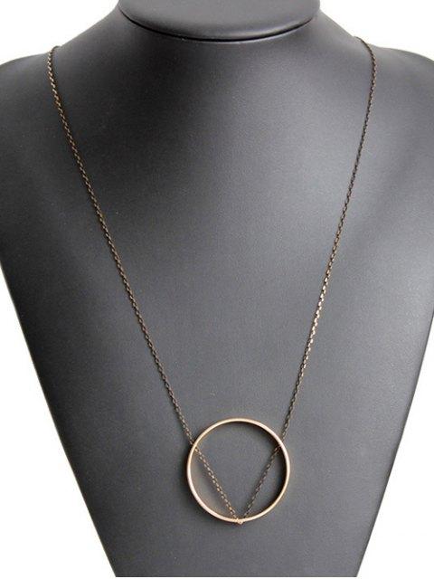 fancy Simple Circle Necklace - GOLDEN  Mobile