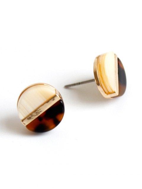 shop Spliced Leopard Stud Earrings - COLORMIX  Mobile