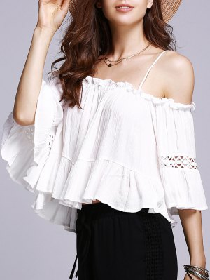 Off The Shoulder Cami White Blouse - White