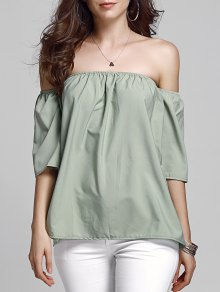 Off Shoulder Army Green Top