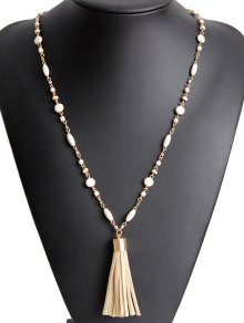 Bead Chain Tassel Necklace