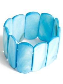 Geometric Elastic Bracelet - Blue