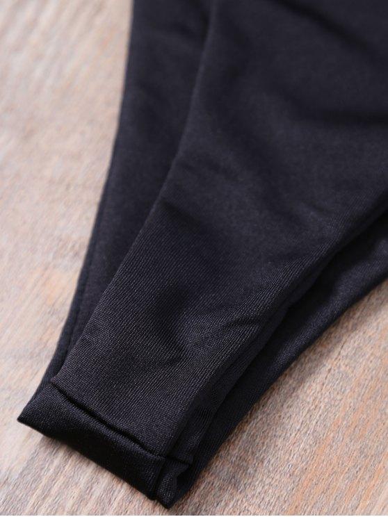 Low Waisted Spaghetti Straps Bikini Set - BLACK S Mobile