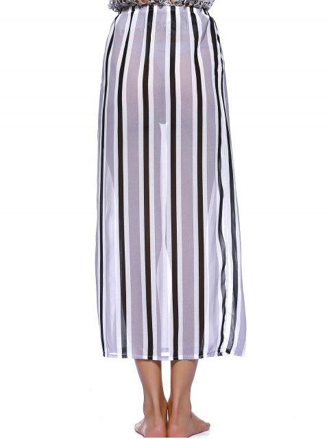 outfit Striped Flowy Slit Dress - COLORMIX XL Mobile