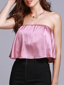 Solid Color Tube Top - Pink