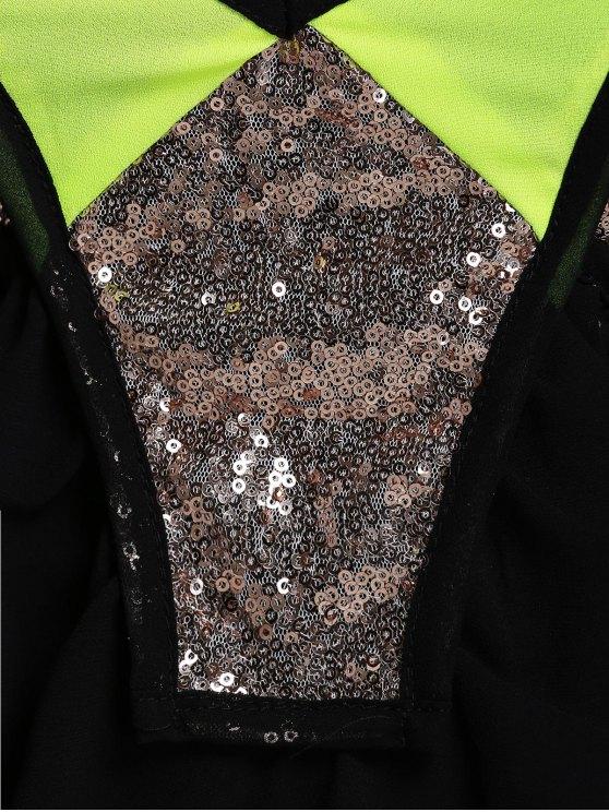 Camisole Glitter Slip Dress - BLACK L Mobile