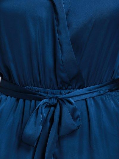 Satin V-Neck Flare Sleeve Belted Romper от Zaful.com INT