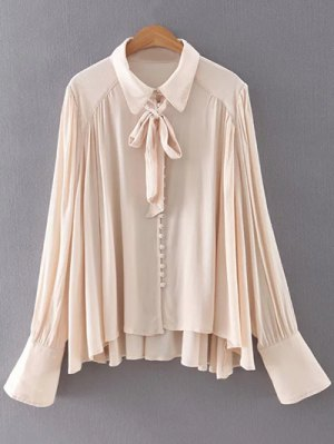 Long Sleeve Flowy Shirt - Apricot