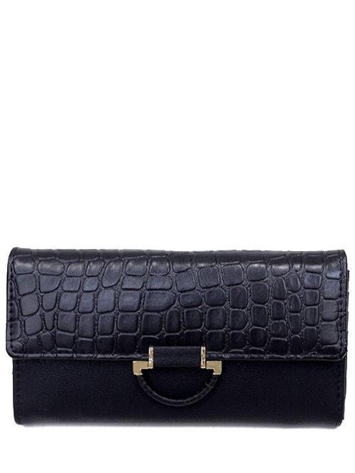 Stone Pattern PU Leather Wallet