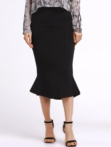 Black Flounce Mermaid Skirt