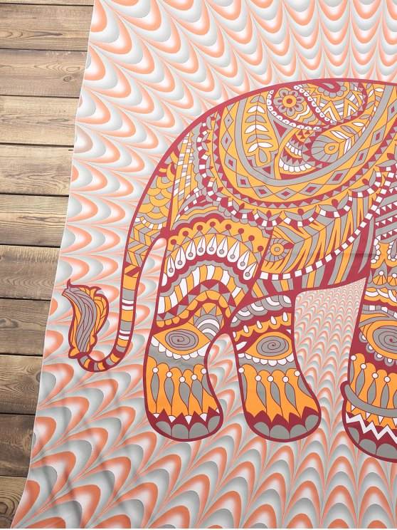 Elephant Print Beach Throw - COLORMIX ONE SIZE(FIT SIZE XS TO M) Mobile