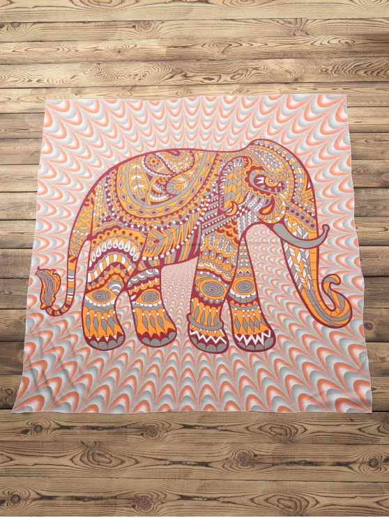 hot Elephant Print Beach Throw - COLORMIX ONE SIZE(FIT SIZE XS TO M)