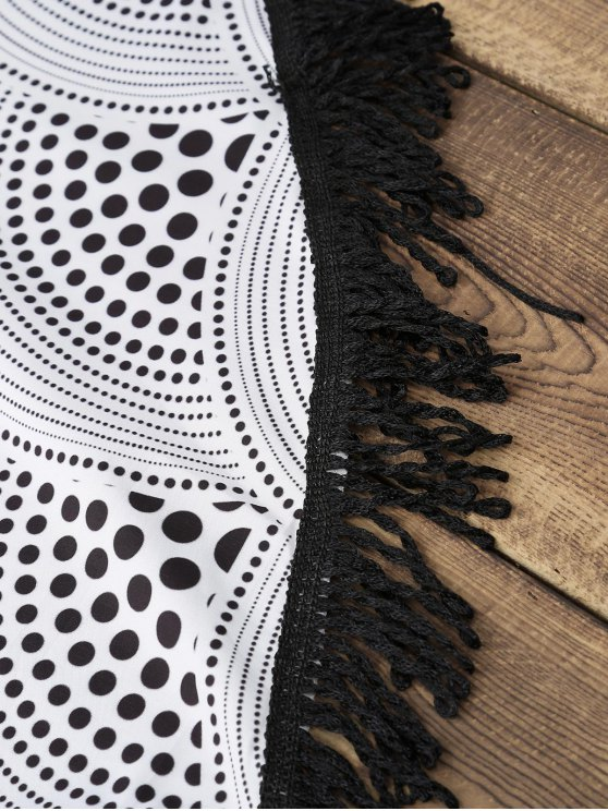 Fringed Round Cover-Up - WHITE ONE SIZE(FIT SIZE XS TO M) Mobile