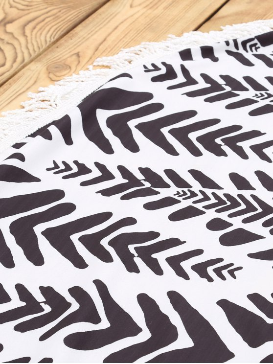 Chevron Stripe Beach Mat - WHITE AND BLACK ONE SIZE(FIT SIZE XS TO M) Mobile