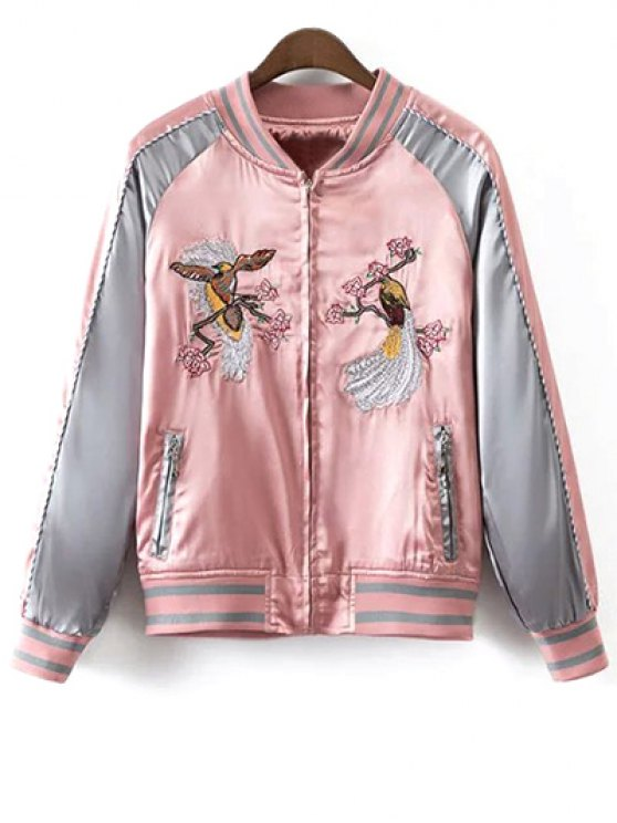 Chaqueta bordada brillante - Rosa L