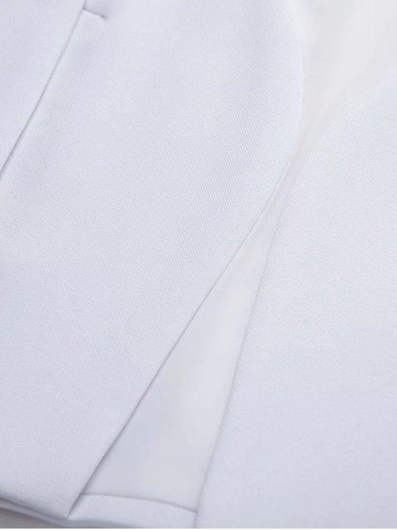 Solid Color Cape Blazer - BLACK M Mobile