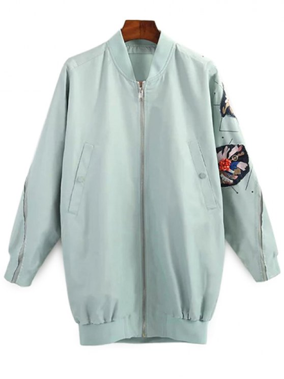 fancy Patched Green Jacket - GREEN S