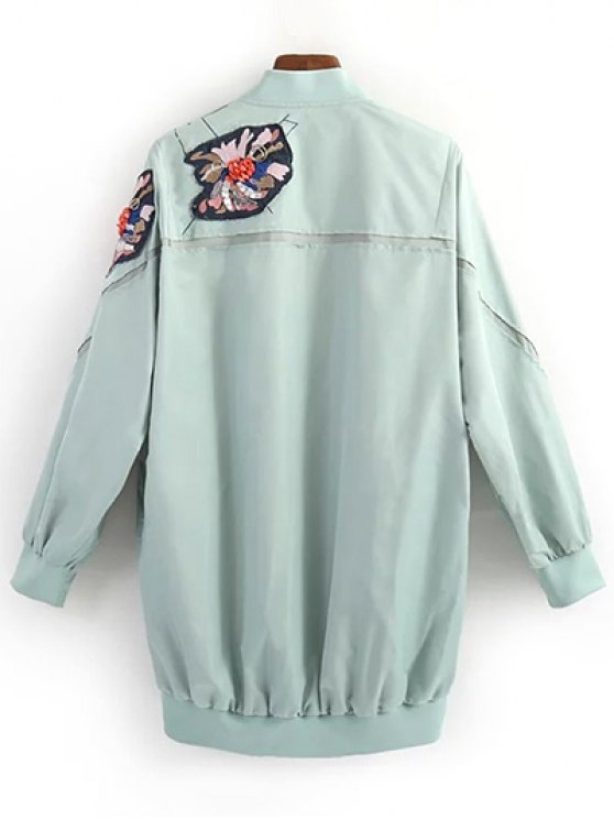 Patched Green Jacket - GREEN S Mobile