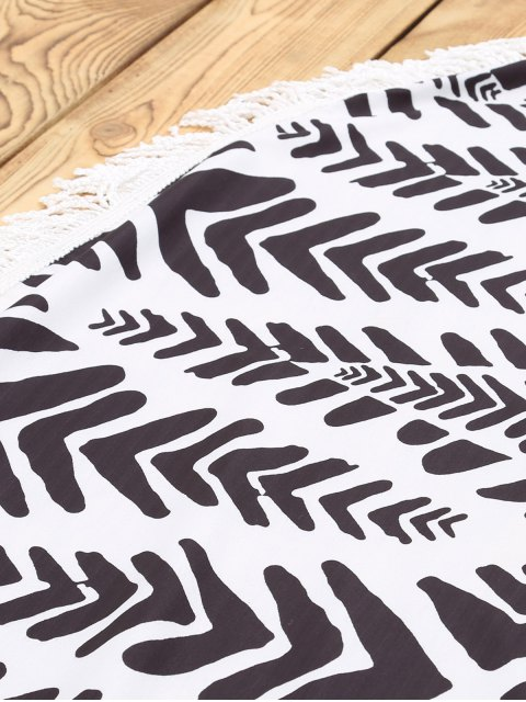 best Chevron Stripe Beach Mat - WHITE AND BLACK ONE SIZE(FIT SIZE XS TO M) Mobile