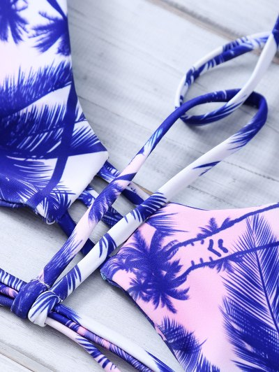 Coconut Palm Strappy Bikini Set от Zaful.com INT