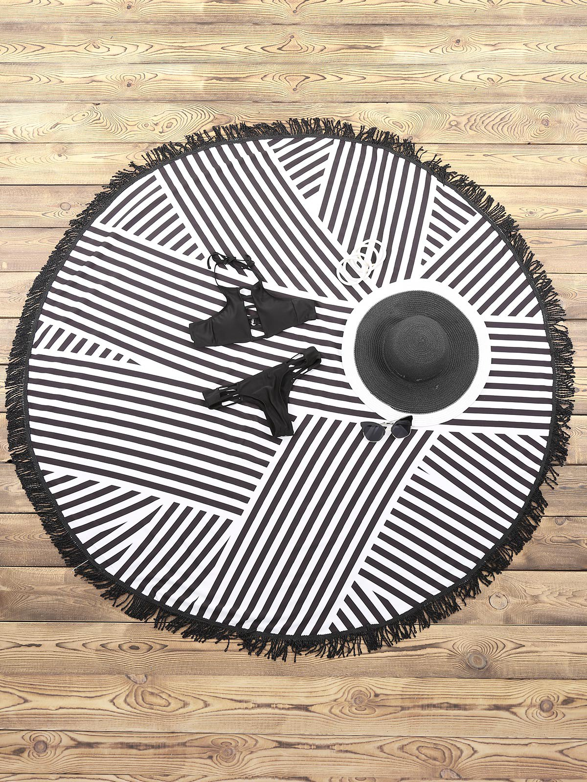 Striped Round Beach Mat