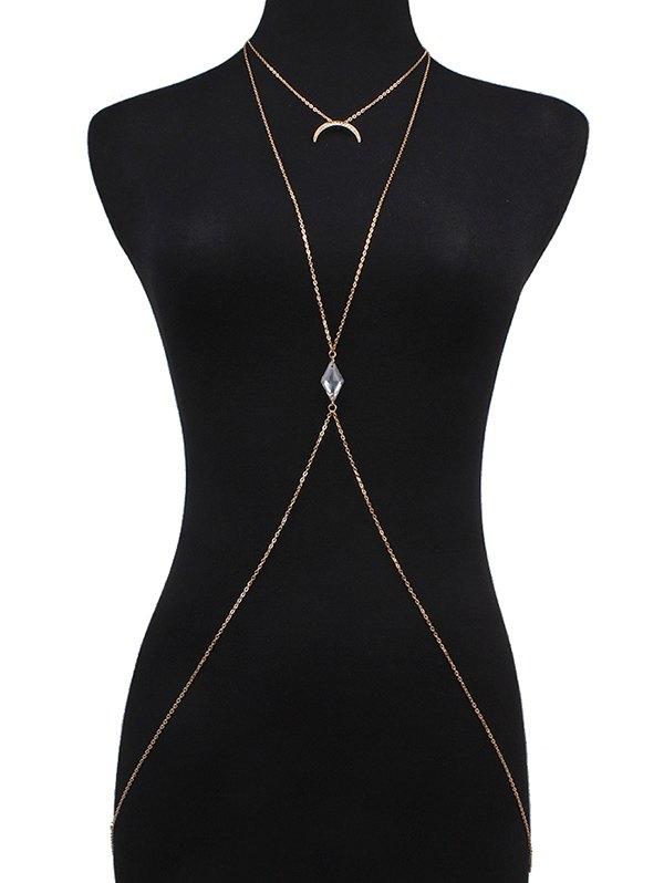 Rhinestone Moon Bikini Body Chain