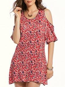 Cutout Shoulder Mini Dress
