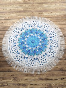 Fringed Round Beach Towel