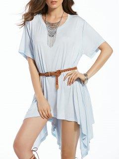 Bawting Manches Irrégulière Robe - Bleu S