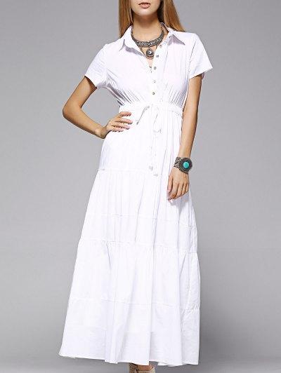 Camisa De Vestir Maxi - Blanco