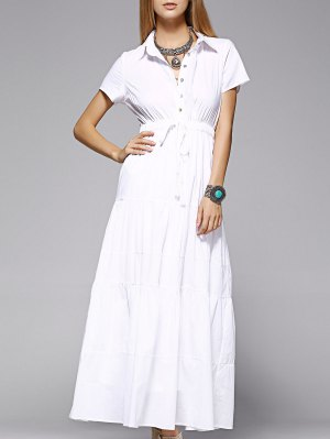 Maxi Shirt Dress - White