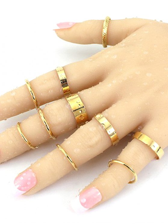 outfit Simple Solid Color Rings - GOLDEN ONE-SIZE