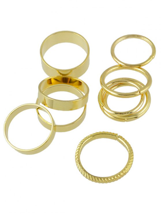 Simple Solid Color Rings - GOLDEN ONE-SIZE Mobile