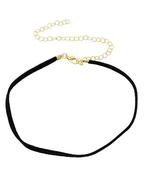 shop Adjustable Velvet Chokers Necklace - BLACK  Mobile