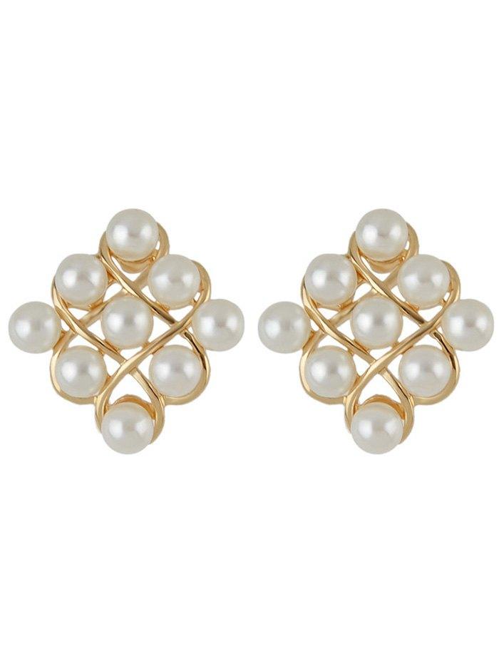 Faux Pearl Stud Earrings