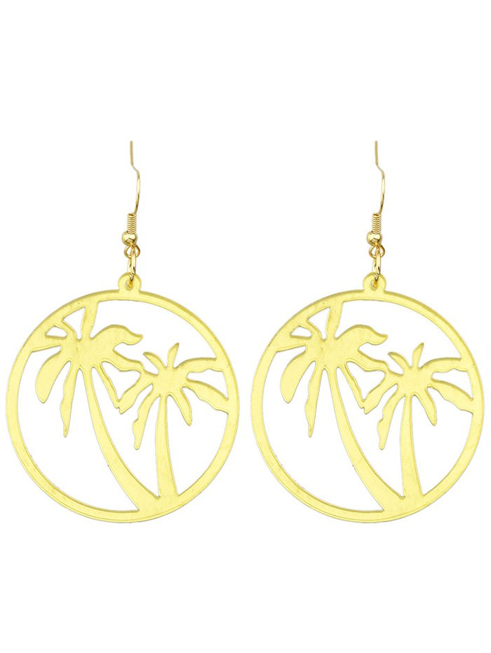 Coconut Palm Round Drop Earrings