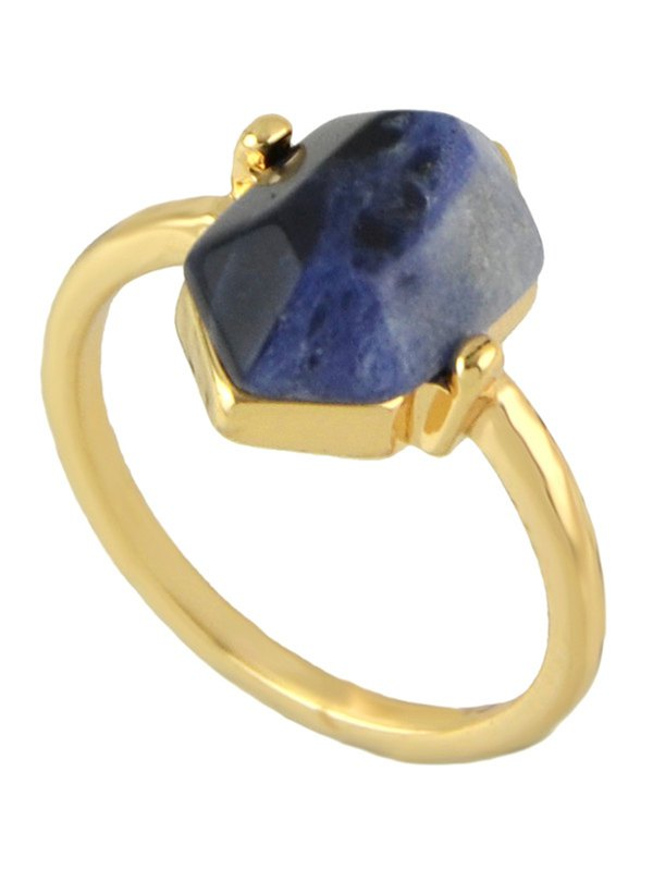 Vintage Geometric Stone Ring