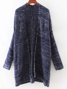 Open Front Batwing Cardigan - Cadetblue