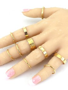 Simple Solid Color Rings - Golden