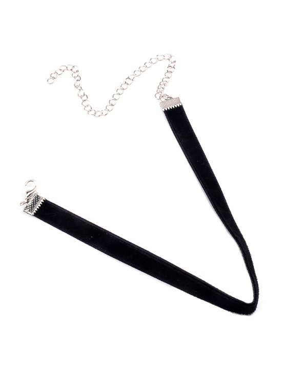 outfit Adjustable Alloy Velvet Chokers Necklace - BLACK