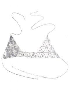 Punk Triangle Bra Body Chain - Silver