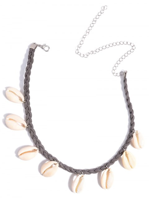 affordable Shell Braid Chokers Necklace - GRAY  Mobile