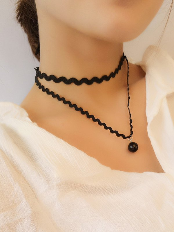 Wave Layered Chokers Necklace