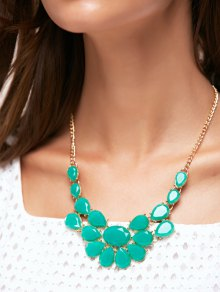 Teardrop Faux Gem Necklace