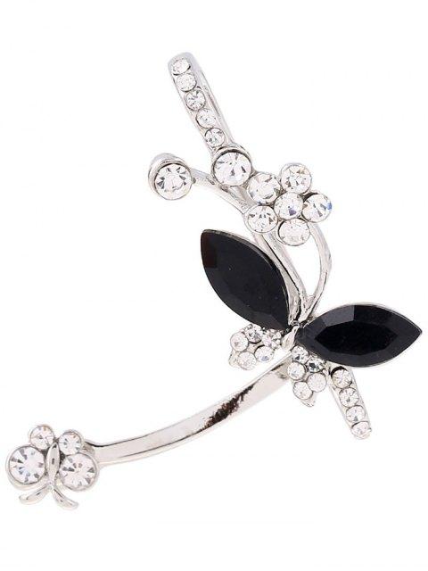 best Rhinestone Butterfly Cuff Earring - SILVER  Mobile