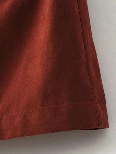 Solid Color Hooded Drawstring Inclined Zipper Coat от Zaful.com INT